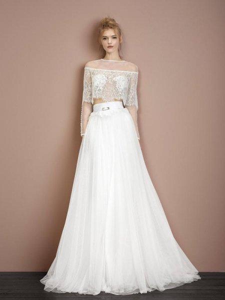 vestidos de novia de dos piezas 2017, ¡sé diferente en tu boda