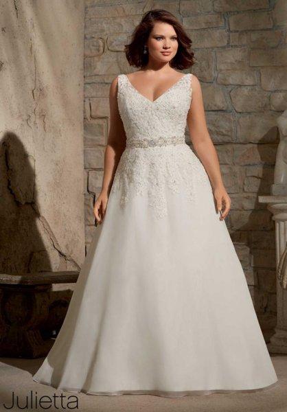 tallas en vestidos de novia