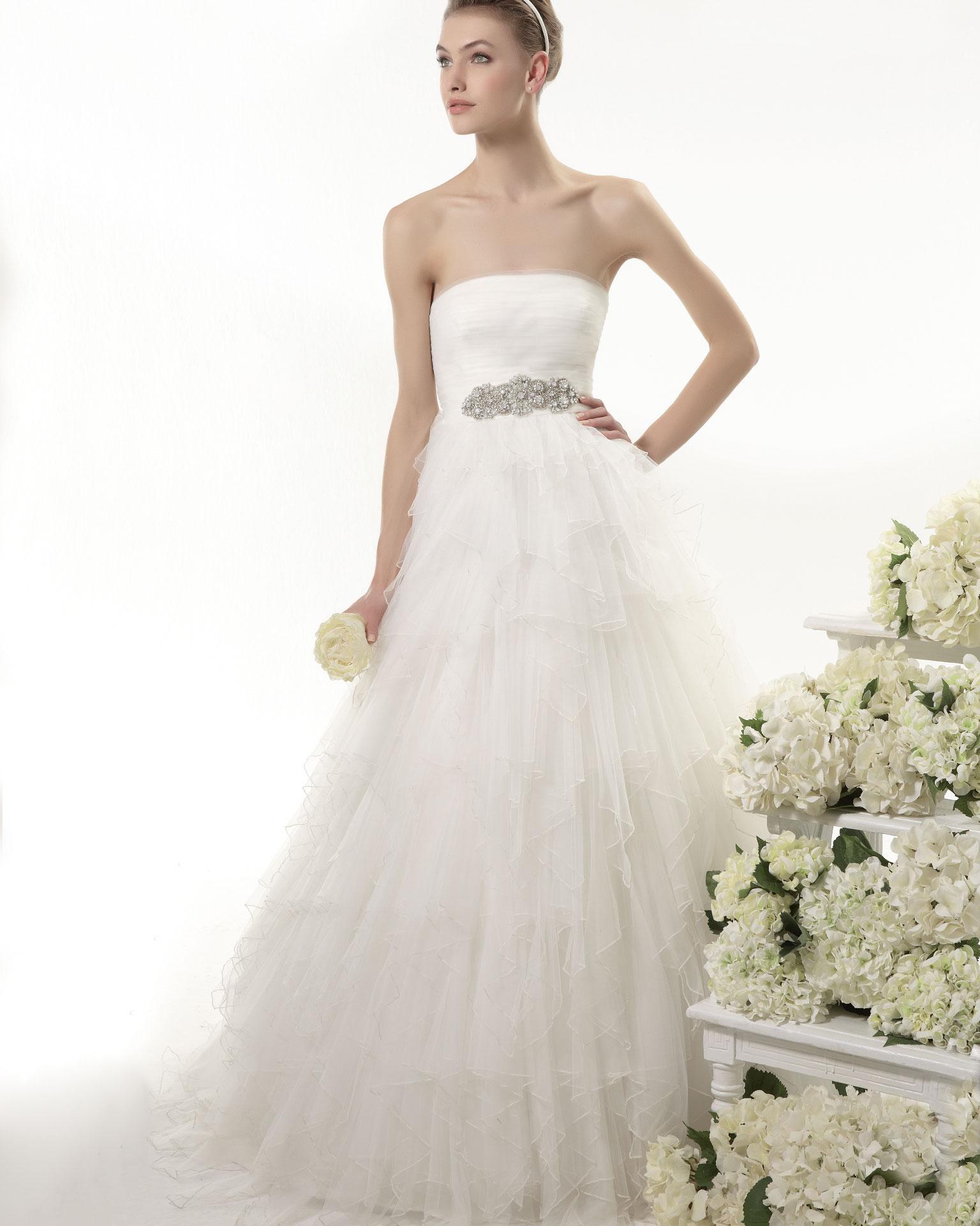 OLGA - Vestido de novia de encaje estilo vintage