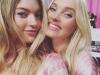 Victoria's Secret Fashion Show 2015 selfies de los ángeles: Elsa Hosk y Martha Hunt