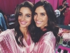 Victoria's Secret Fashion Show 2015 selfies de los ángeles: Taylor Hill y Sara Sampaio
