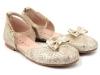 Zapatos de Comunión para niñas 2016: Clarys bailarina hebilla dorada