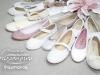 Zapatos de Comunión Pisamonas 2017: niña blancos y nude