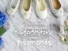 Zapatos de Comunión Pisamonas 2017: niña blancos