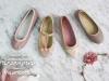 Zapatos de Comunión Pisamonas 2017: niña rosa y dorados