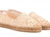 Zapatos de novia cómodos 2017: alpargatas My Theresa modelo Dolce & Gabbana