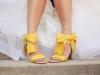 Zapatos de novia de colores: amarillos
