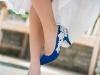 Zapatos de novia de colores: azules de encaje