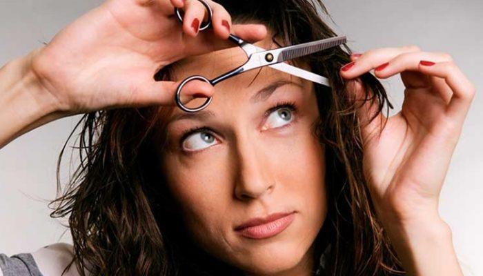 Cómo cortarse el pelo a capas una misma: paso a paso