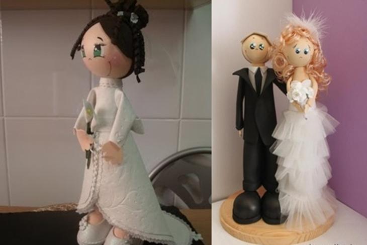 Muñeca de goma eva de novia: Fofucha paso a paso