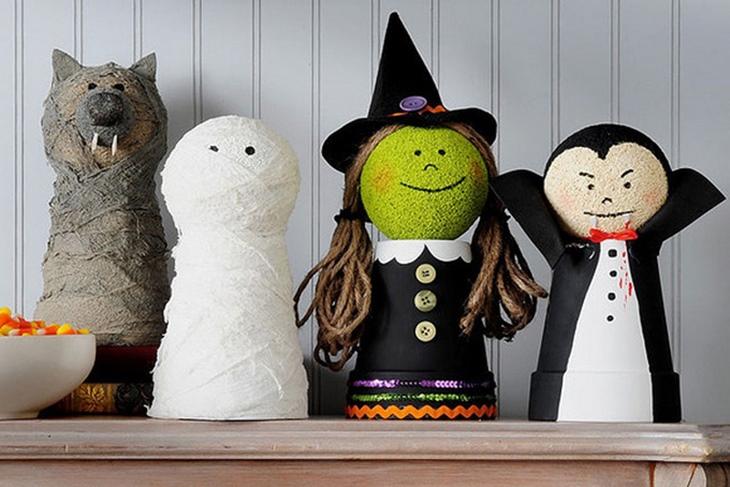 Manualidades Halloween fáciles para niños: Frankestein, Jack y Calabaza