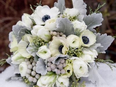 Ramos de novia de invierno: Flores y colores más acertados