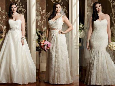 Vestidos de novia tallas grandes: los más favorecedores