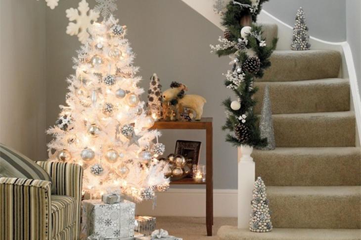 Rbol de navidad blanco c mo decorarlo para que sea - Arboles navidad blancos ...