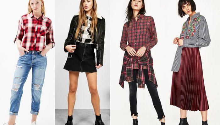 Cómo combinar camisas de cuadros: looks de mujer