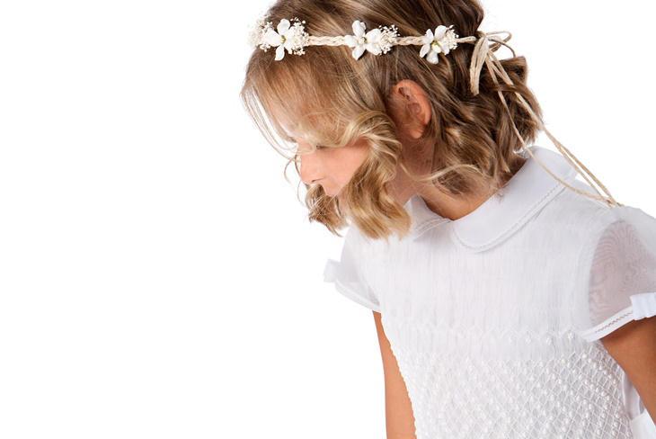 Peinados de comunión para niñas con pelo corto: Ideas elegantes