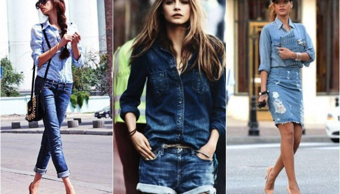 Looks total denim: tendencia de temporada