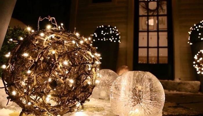 5 ideas para decorar tu jardín en Navidad