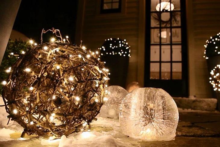 ideas para decorar tu jardín en Navidad