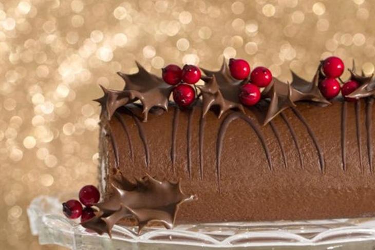 Tronco de Navidad relleno de trufa: Receta fácil paso a paso