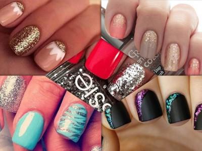 5 diseños de uñas glitter para copiar