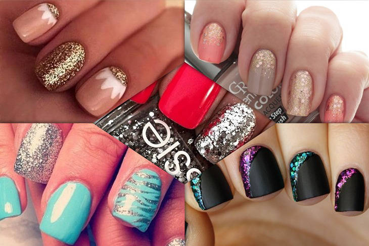 5 diseños de uñas glitter fáciles para copiar - Mujeralia