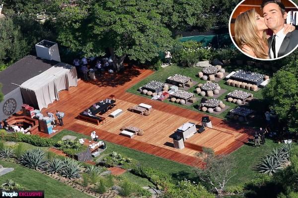 Mansión donde Jennifer Aniston y Justin Theroux celebraron la boda