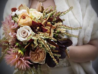 Ramos de novia de otoño vintage