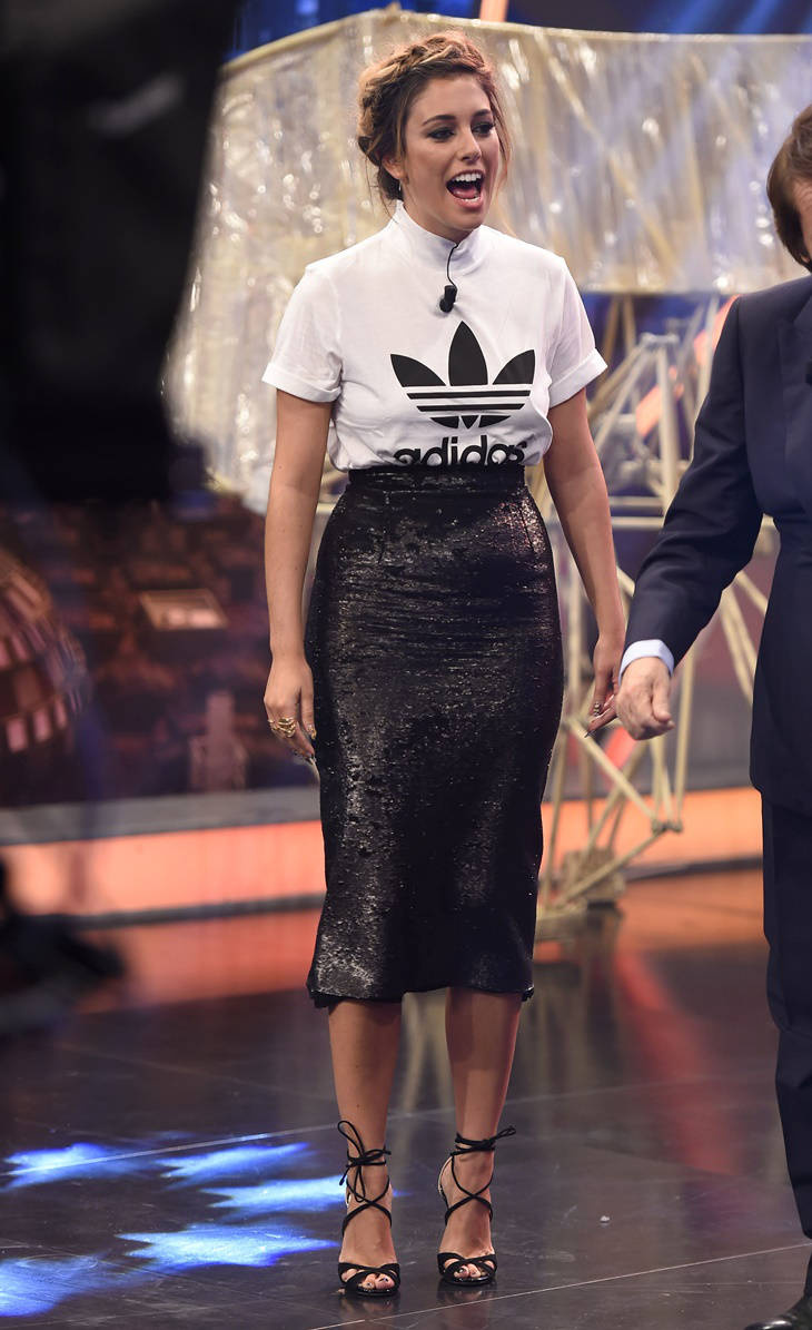 blanca su rez y su look sport chic en 39 el hormiguero 39 v deo mujeralia. Black Bedroom Furniture Sets. Home Design Ideas