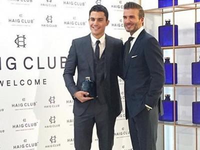 David Beckham y Álex González: dos guapos imagen de un whisky
