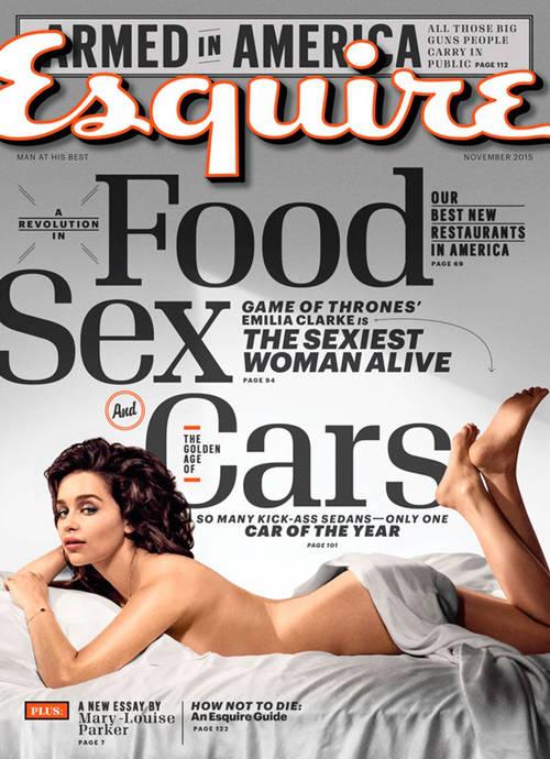 Emilia Clarke de 'Juego de Tronos' la más sensual del mundo: portada Esquire