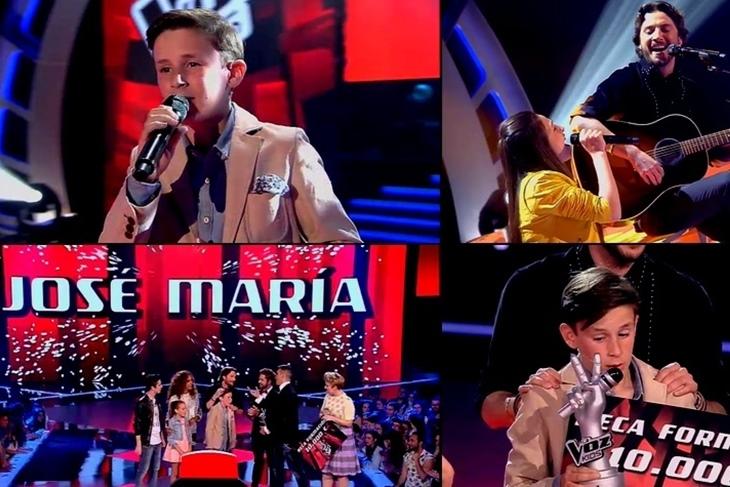 La Voz Kids 2015: Jose María gana con Manuel Carrasco