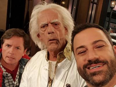 Marty McFly y Doc regresan al presente con Jimmy Kimmel