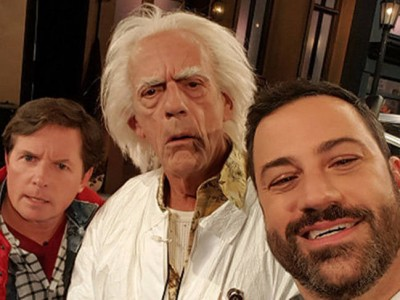 Marty McFly y Doc regresan al presente con Jimmy Kimmel