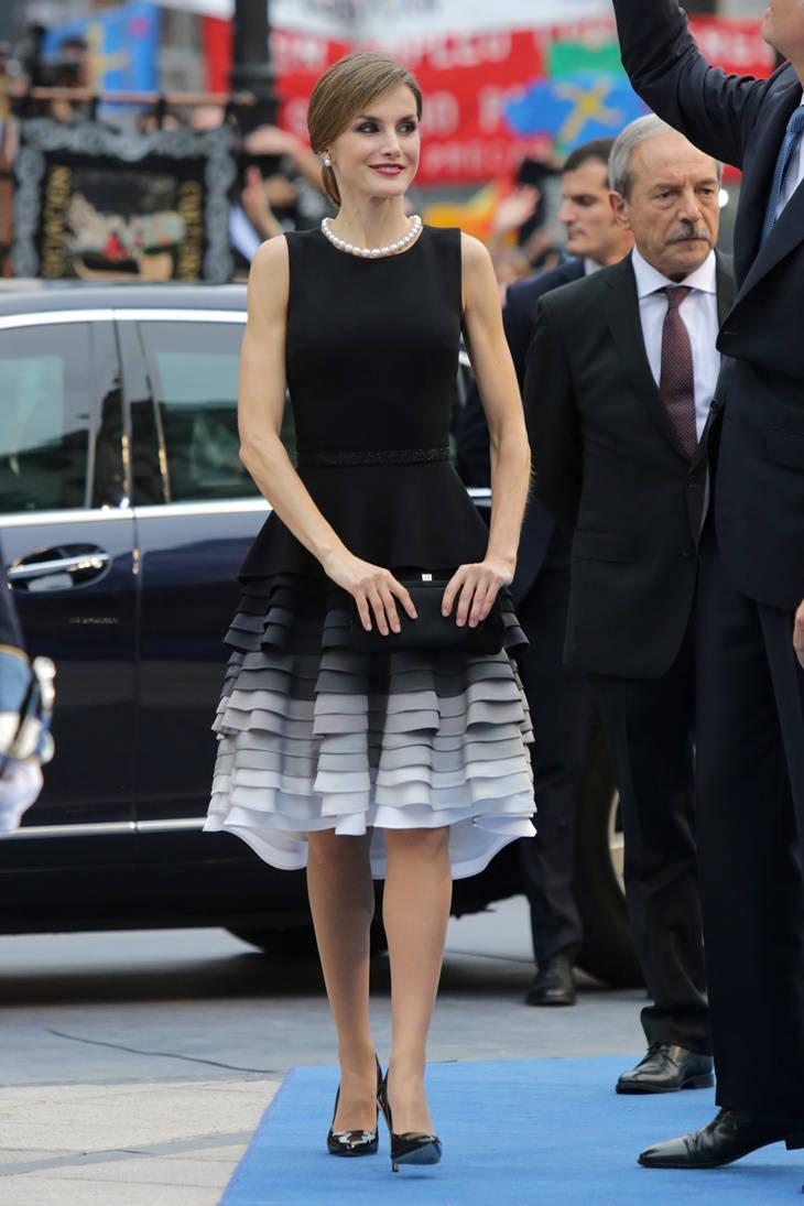Reina Letizia look de Felipe Varela