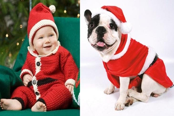 Disfraz De Papa Noel Para Bebes Adultos Y Mascotas Ideas Diy - Bebes-vestidos-de-papa-noel