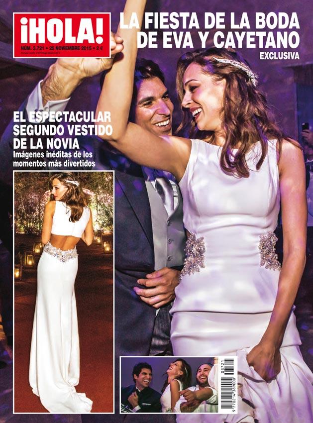 Eva González: su segundo vestido de novia más sensual portada ¡Hola!