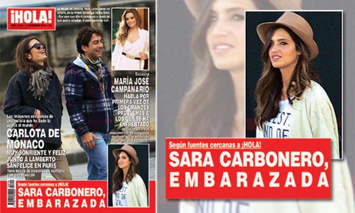 Sara Carbonero portada revista ¡Hola!