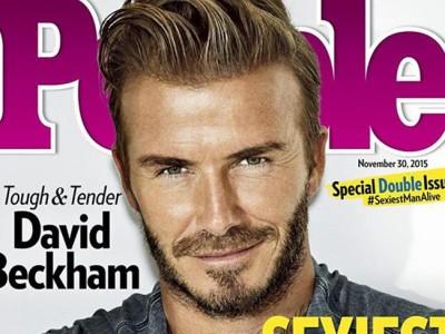 David Beckham el hombre más atractivo del mundo para 'People'