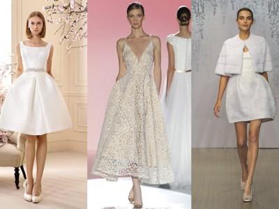 Vestidos de novia cortos 2016: los más originales