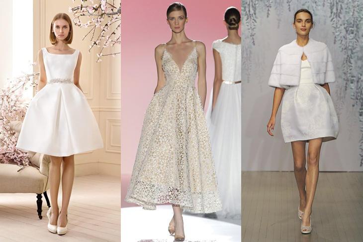 vestidos de novia cortos 2016: los más originales [fotos] - mujeralia
