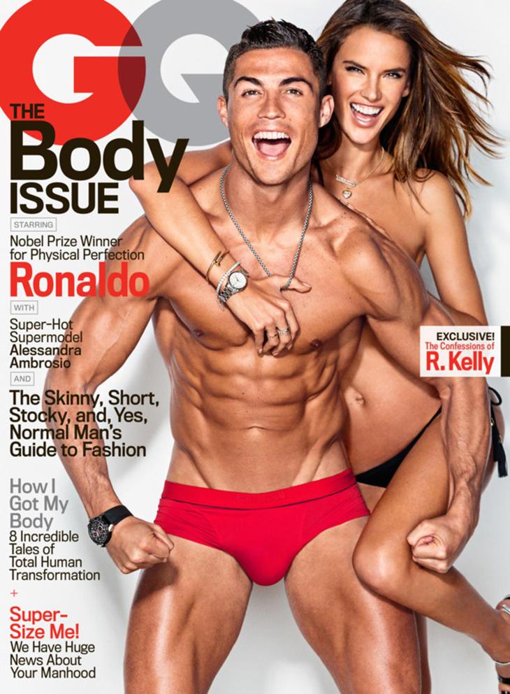Cristiano Ronaldo y Alessandra Ambrosio: portada The Body Issue GQ