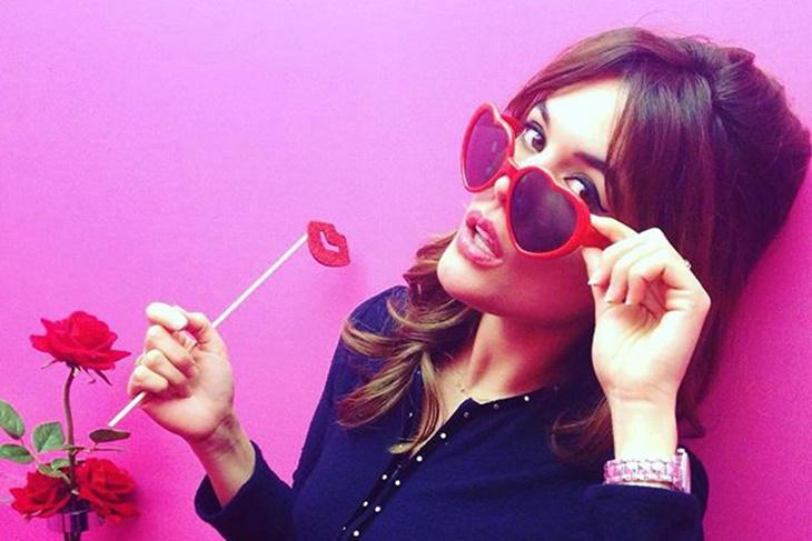 Adriana Ugarte se viste de San Valentín para Lancôme