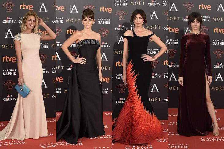 Goya 2016 alfombra roja con las invitadas