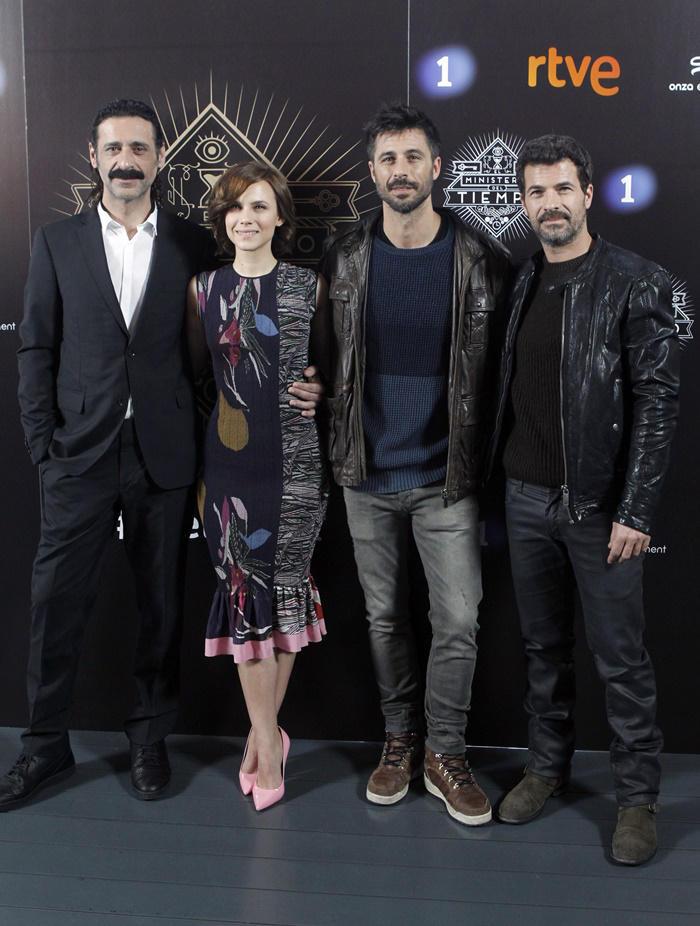 Hugo Silva y Rodolfo Sancho con Aura Garrido y Nacho Fresneda