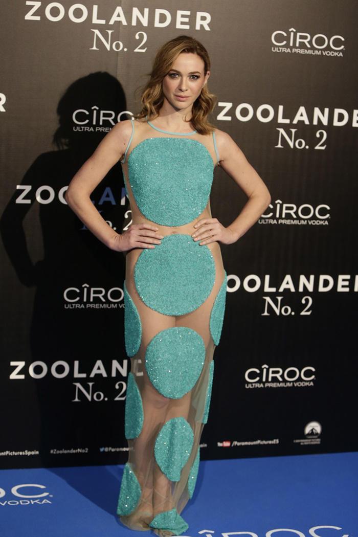 Marta Hazas de Ana Locking en el estreno de Zoolander 2