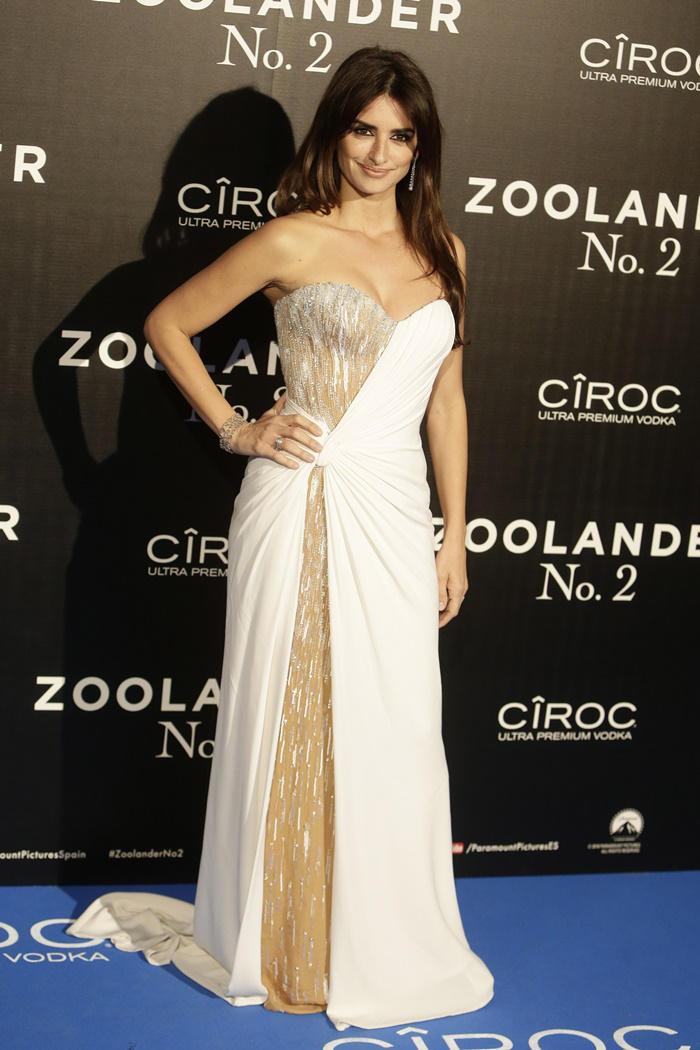 Penélope Cruz de Versace Couture en el estreno de Zoolander 2