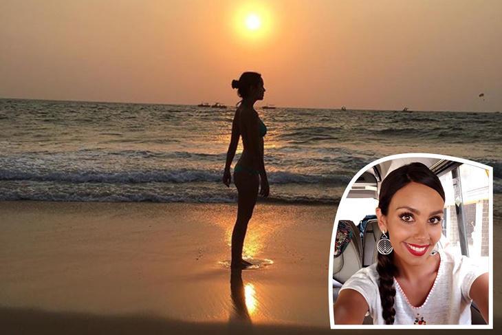 Cristina Pedroche posa en bikini en el rodaje de 'Pekín Express'