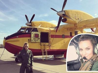 Edurne una chica de altos vuelos con las Fuerzas Aéreas