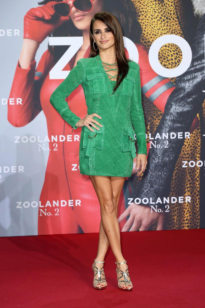 Penélope Cruz con look de Balmain en el estreno de 'Zoolander 2' en Berlín